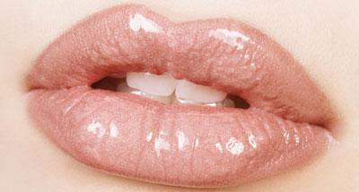 Get shiny and moist lips