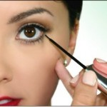Eyeliner application for evening and day makeup