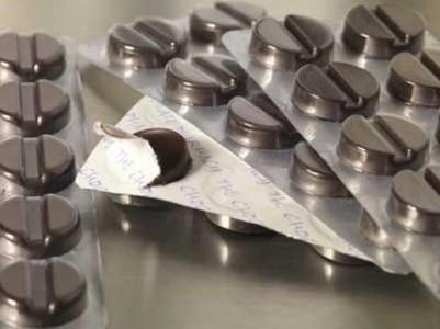 Chocolate pills