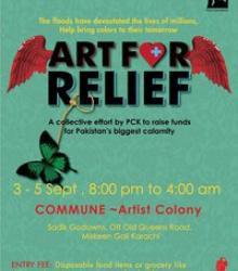 Art for Relief – Donated art exhibit for Pakistan flood survivors