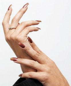 Hands with manicure