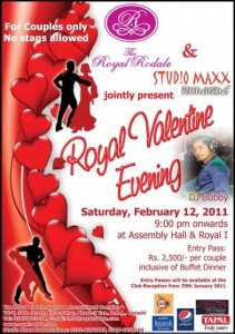 Royal valentine evening