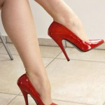 Shine With Red Heels On Valentine's Day