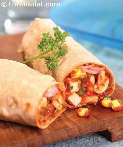 Achaari Aloo Roll (wraps and Rolls)