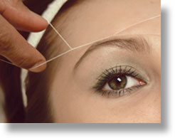 How To Thread Hair