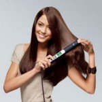 Using hair straighteners