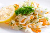 Coleslaw with Sweet and Sour Creamy Dressing Recipe