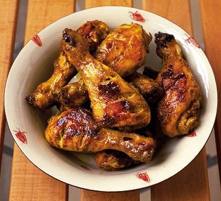 Spicy barbeque yogurt chicken drumsticks