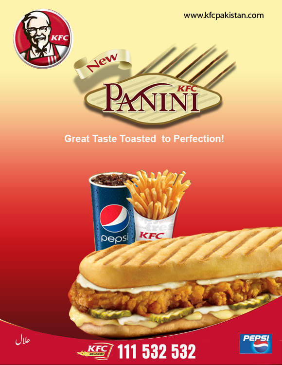 New Chicken Panini sandwich from KFC