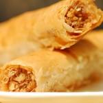 Dessert baklava: delicious Arab coffee cigars