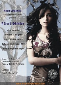 Nadia Lakdawala Grand Exhibition Designer's from Karachi & Lahore
