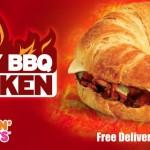 Spicy BBQ Chicken sandwich at Dunkin' Donuts