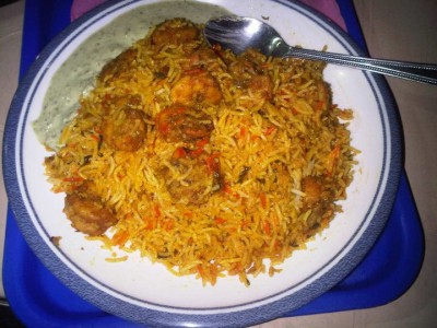 Prawn Biryani at Biryani of the Seas