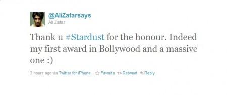Ali Zafar Stardust Award 2012