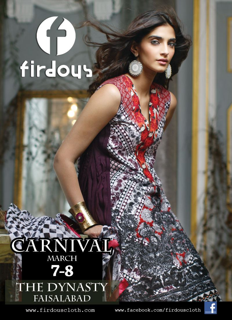 Sonam Kapoor Models for Firdous Lawn Collection 2012