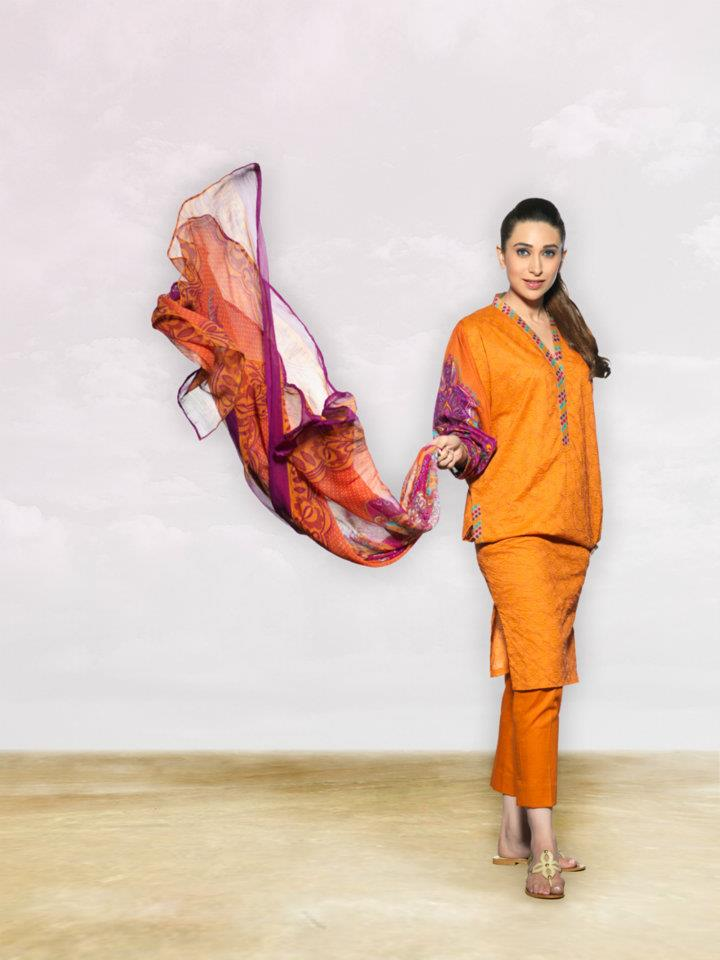 Karishma kapoor models for Crescent lawn 2012