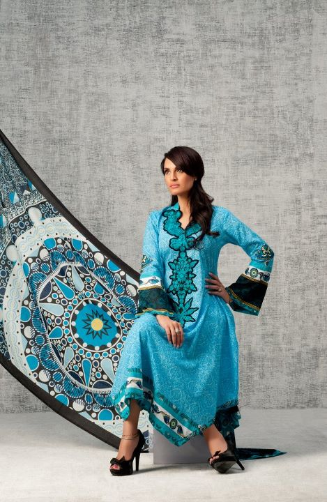 Nadia Hussain Signature Lawn 2012 designs 2