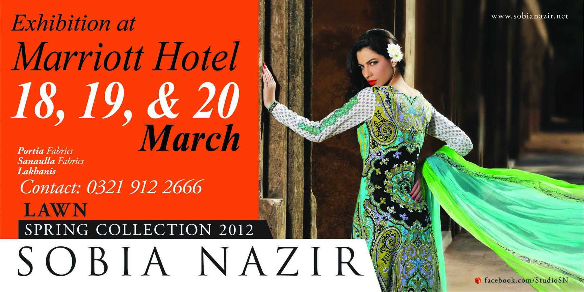 Sobia nazir Lawn collection exhibition in Karachi