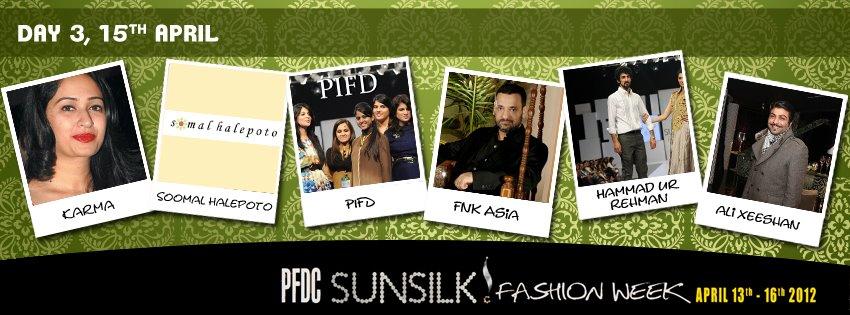 PFDC sunsilk Fashion Week 2012 Day 3