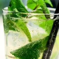 Mint Lime Fizz drink