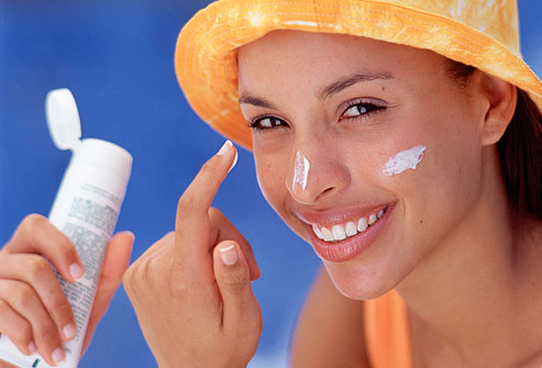 Sunscreen summer skin care