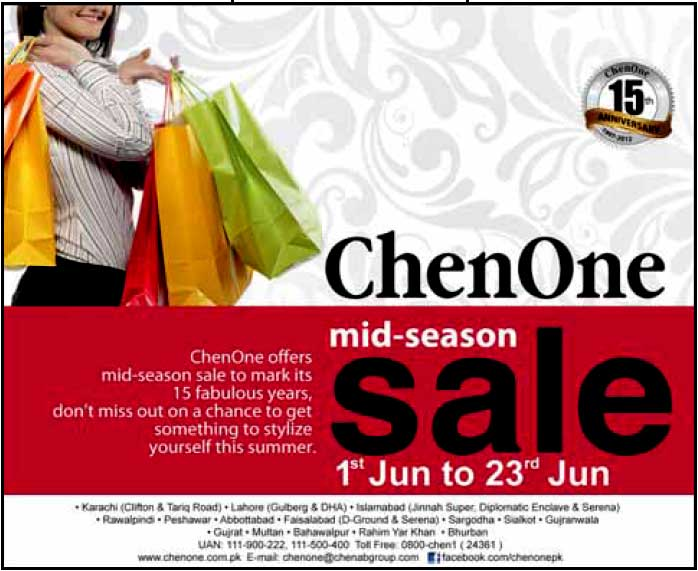 ChenOne Mid Summer Sale 2012