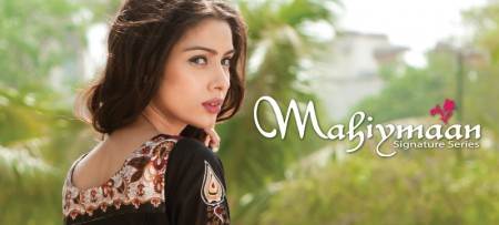 Al Zohaib Textiles Mahiymaan Eid Lawn collection 2012