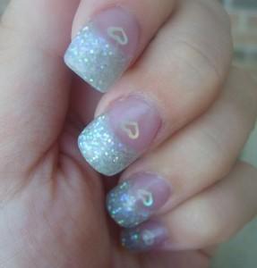 Glitter Acrylic Nails