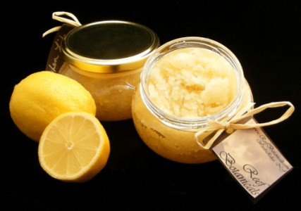 lemon salt glow scrub