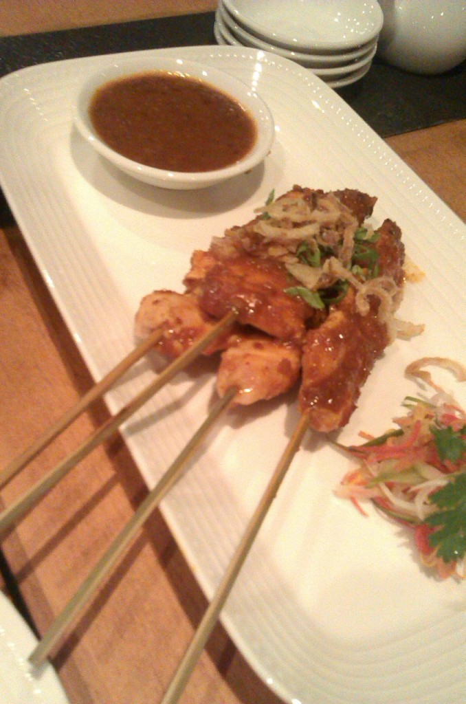 Chicken Satay with peanut Sauce at Noodle House Karachi
