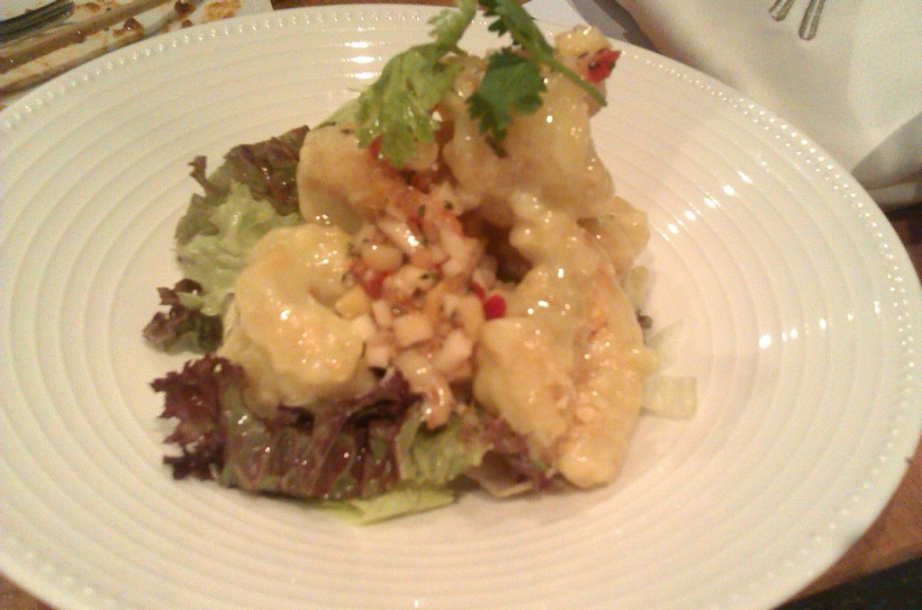 Wasabi Prawns at The Noodle House Karachi