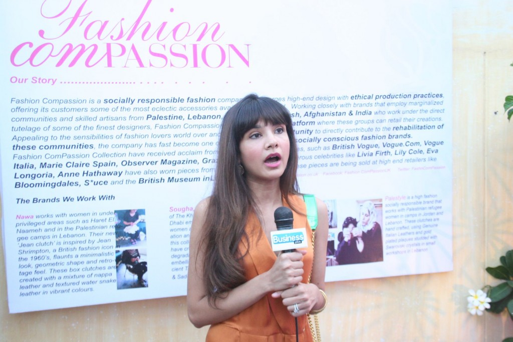 Ayesha Mustafa at fashion ComPassion Karachi Launch