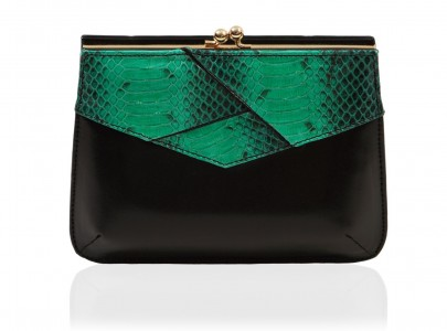Fashion ComPassion GreenBlack Nawa clutch