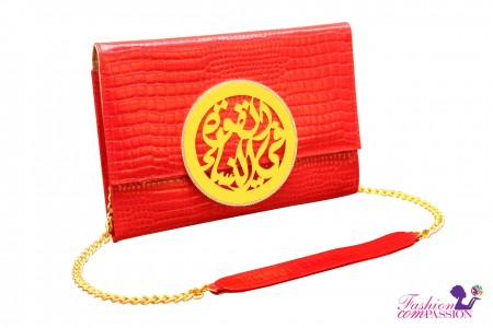Fashion ComPassion   Red Palestyle Clutch