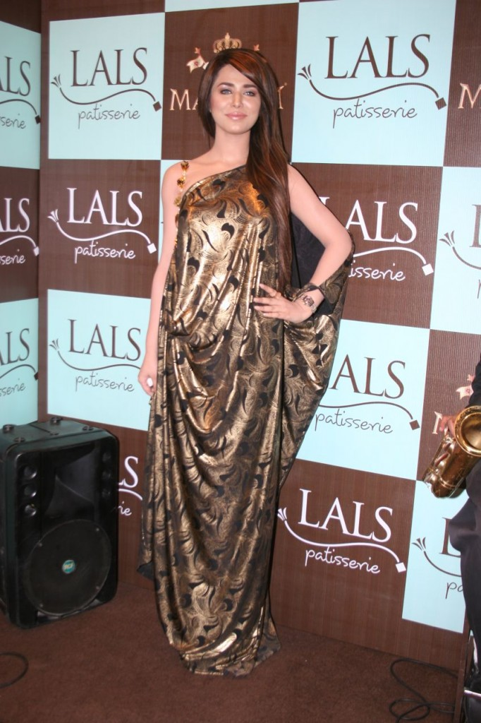 Lals patisserie Launch in Karachi Ayyan wearing Maheen Karim