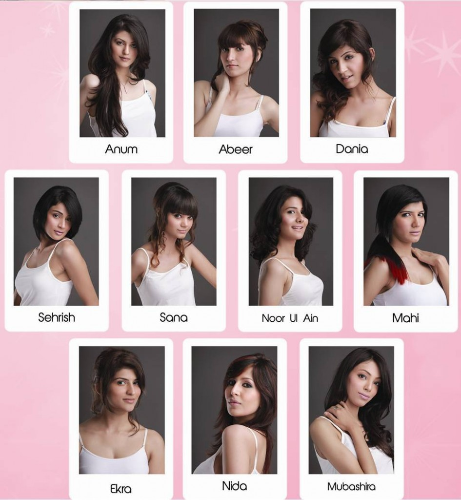 Veet Miss super model contestants