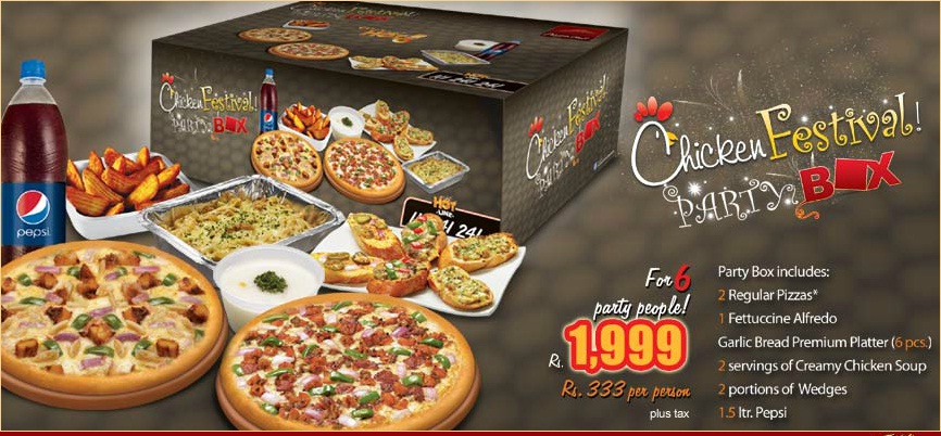 Pizza Hut Chicken festival deal