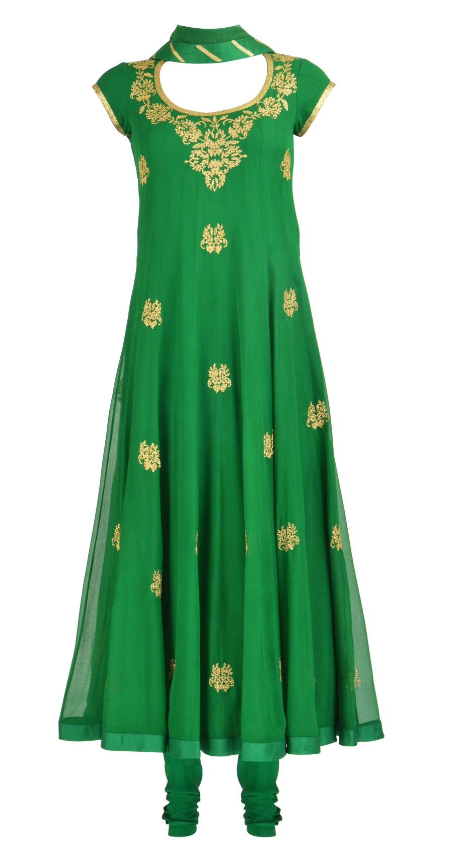Emerald Green color fashion dress 2013