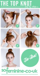 Top knot step by step guide