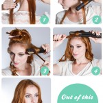 Step by step guide to curl hair with straighteners