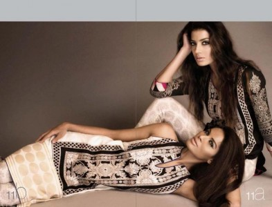 Sana Safinaz lawn copy of Zara 2013 2