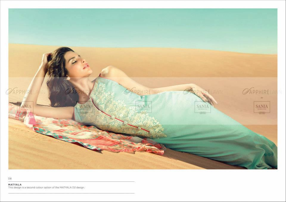 Sapphire lawn by Sania maskatiya 2