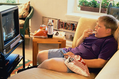 Watching TV commercials can make you fat