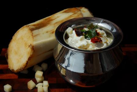 Banana stem raita-Healthy and healing meal