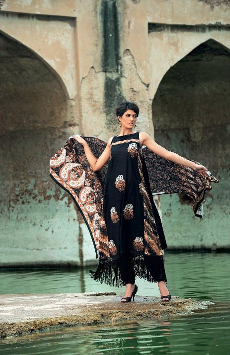 Gul Ahmed Fall Winter 2010 Printed Khaddar Collection