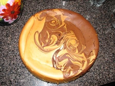 Orange Chocolate Swirl Cheesecake for Christmas