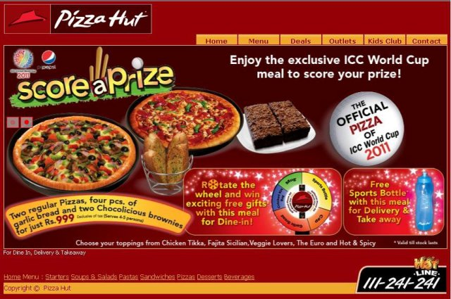 Pizza hut Meal Deal – Score a Prize