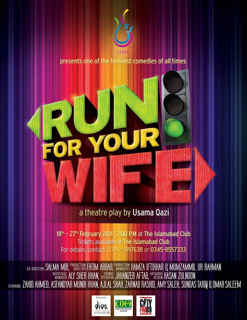 Run For Your Wife goes to Karachi - March 10th-20th at The Arts Counci