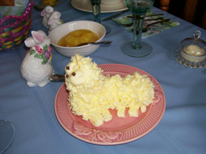 Craft: Butter Lamb For Easter