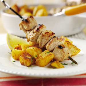 Moroccan potatoes with cumin and chicken